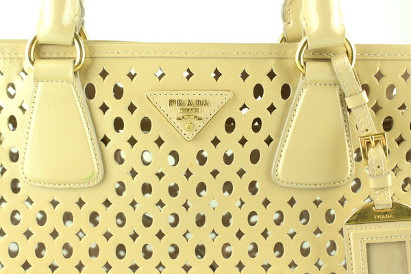 Prada Vernic Cipria Perforated Shopper With Pochette BN2294