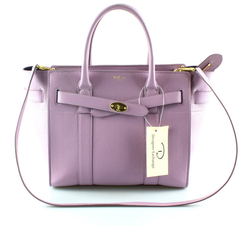 Mulberry Small Classic Grain Zipped Bayswater Lilac