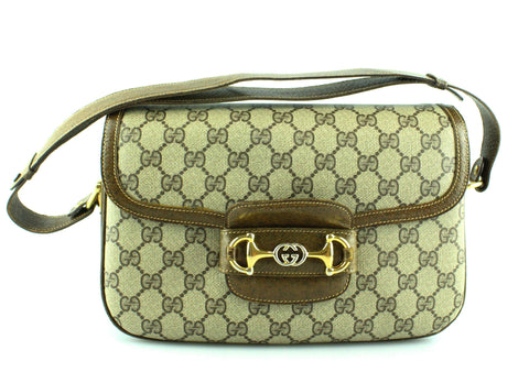 Gucci Vintage GG Horsebit Shoulder Bag GH