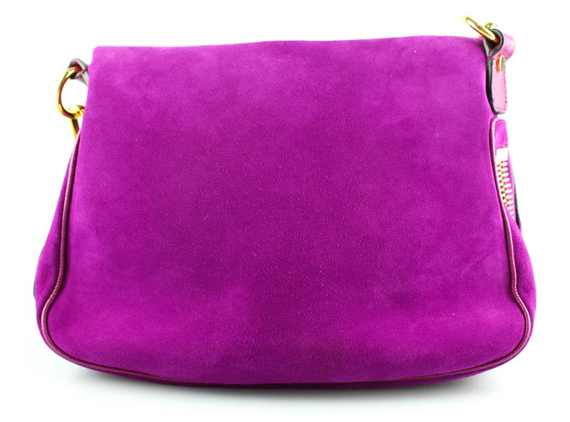 Tom Ford Suede Fuschia Medium Jennifer Single Strap GH