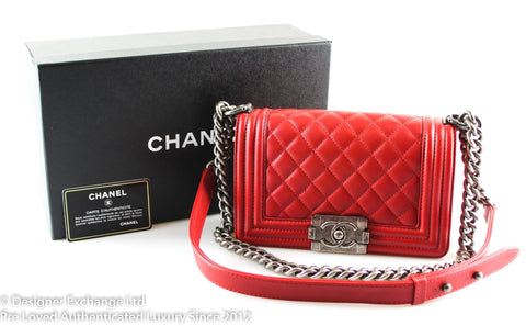 Chanel Small Boy Red Lambskin 2014 20569970