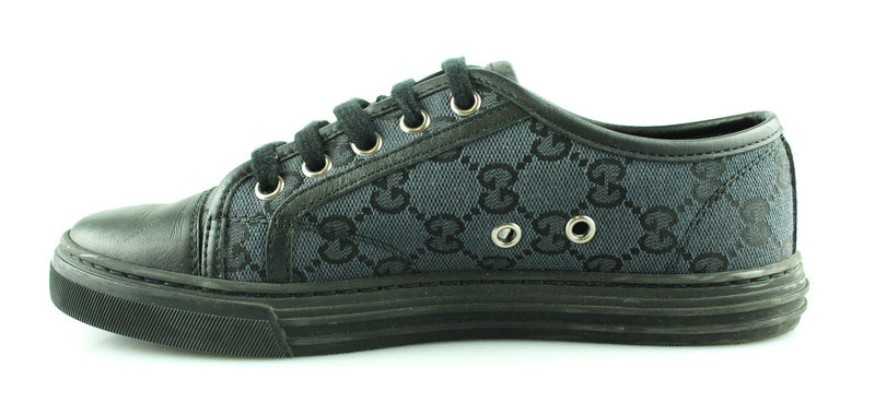 Gucci Black GG Canvas/Leather Trainers EUR 35 UK 2