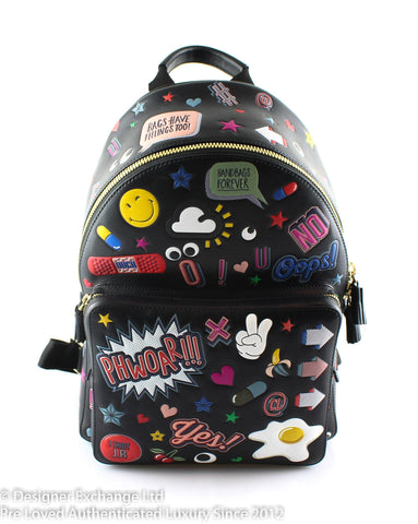 Anya Hndmarch All Over Stickers Backpack 2016