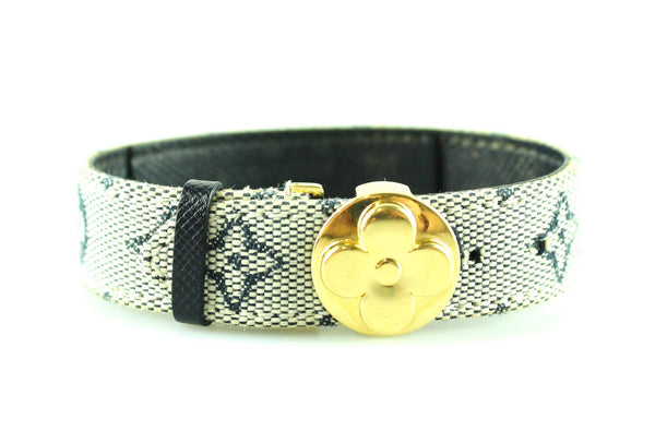 Louis Vuitton Navy Mini Lin Good Luck Bracelet SN0091