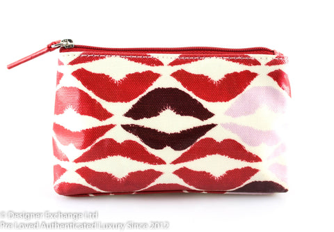 Lulu Guinness Coated Canvas Lips Small Cosmetic Bag