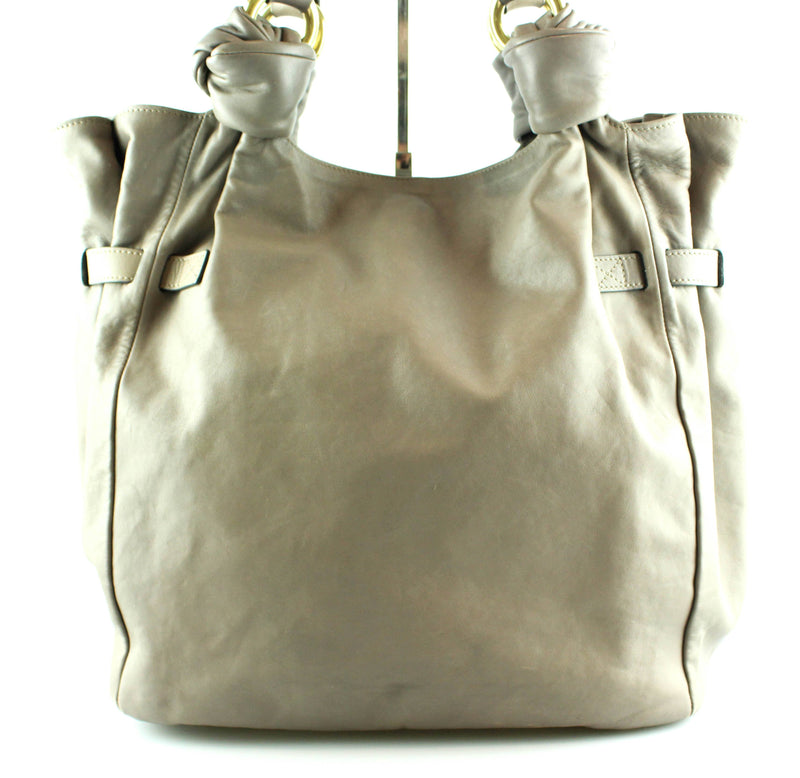 Marc Jacobs Taupe Leather Mercer Peet Tote