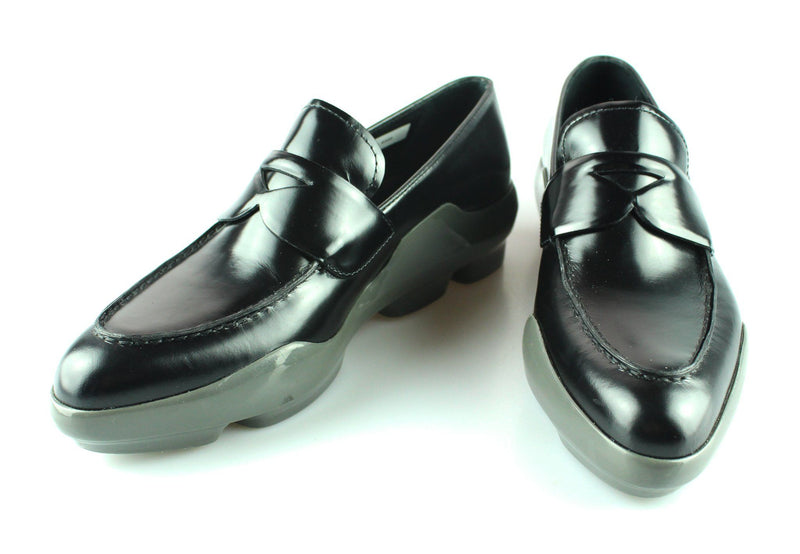 Prada Black/Grey Loafer With rubber Sole EUR 39 UK 6