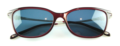 Tiffany & Co TF2133 Maroon And Silver Frame With Diamante Sunglasses Ex Display