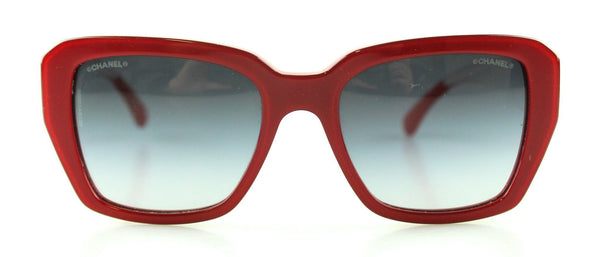 Chanel Resin Red/Clear Sunglasses