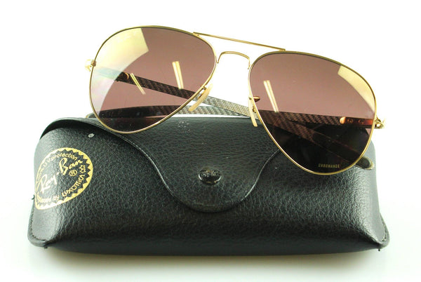 Ray Ban Chromance Polarized Aviator Sunglasses