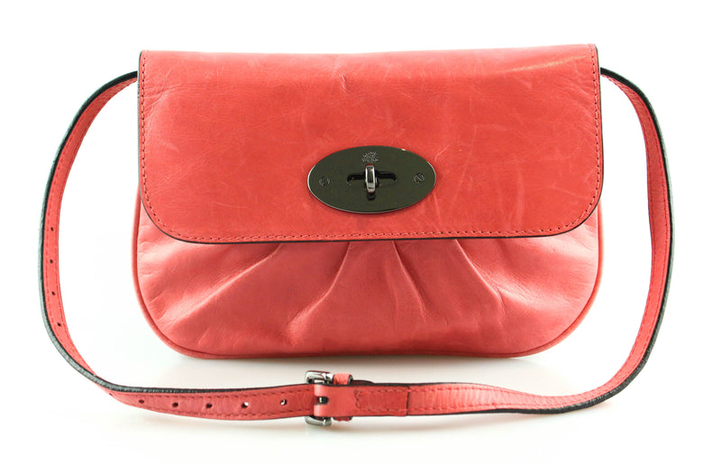 Mulberry Coral Leather Small Shoulder Bag