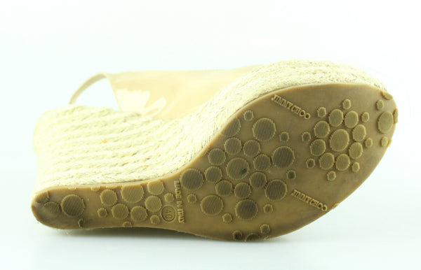 Jimmy Choo Wedged Espadrile Nude Patent 40/7