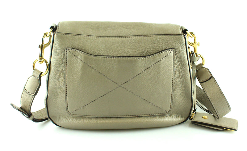Marc Jacobs Large Taupe Recruit Saddle Bag GH **2