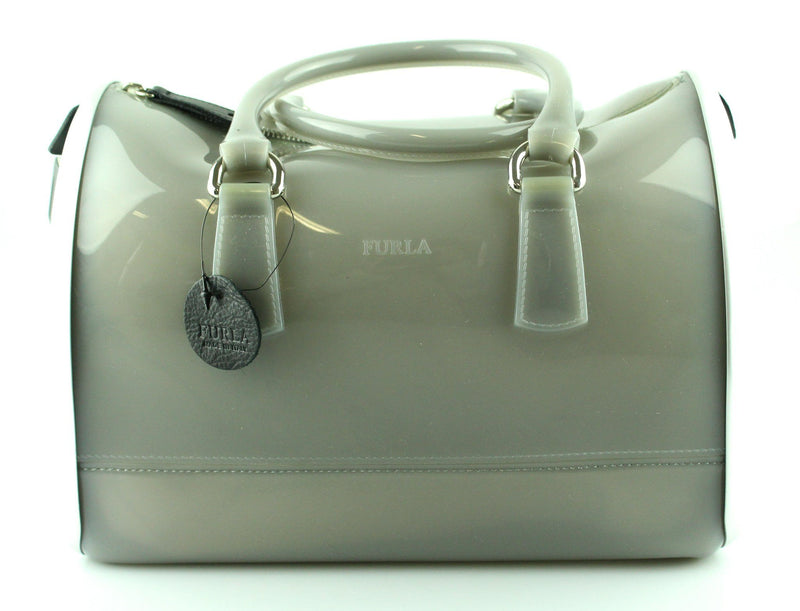 Furla Ltd Edition Candy Bowler Bag Silver And Grey
