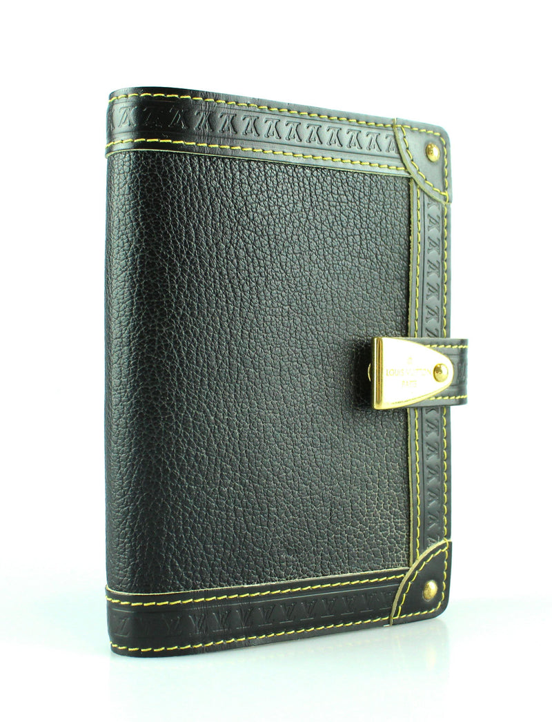 Louis Vuitton Black Suhali Agenda PM GH CA2069