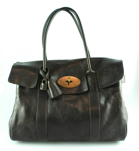 Mulberry Vintage Chocolate Brown Bayswater