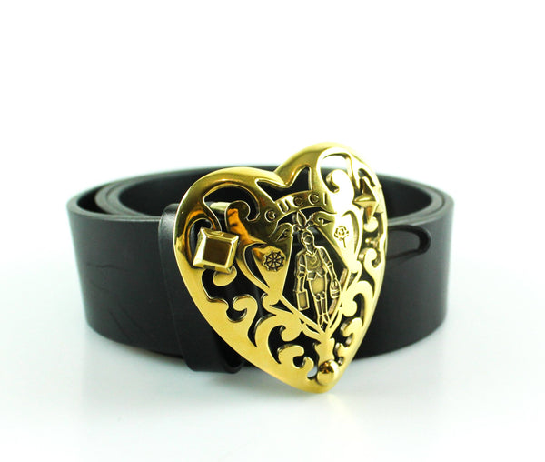 884b98d3277 Gucci Black Leather Hysteria Belt Gold 85 34 – Designer Exchange Ltd