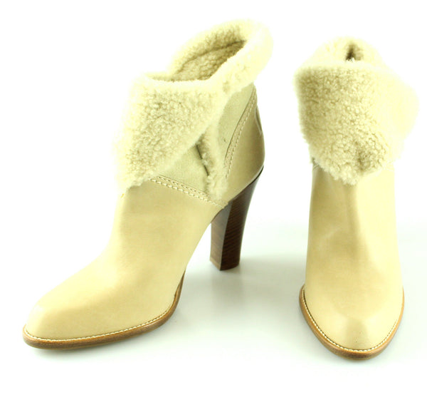 Christian Dior Shearling Tan Leather Booties EUR 36 UK 3