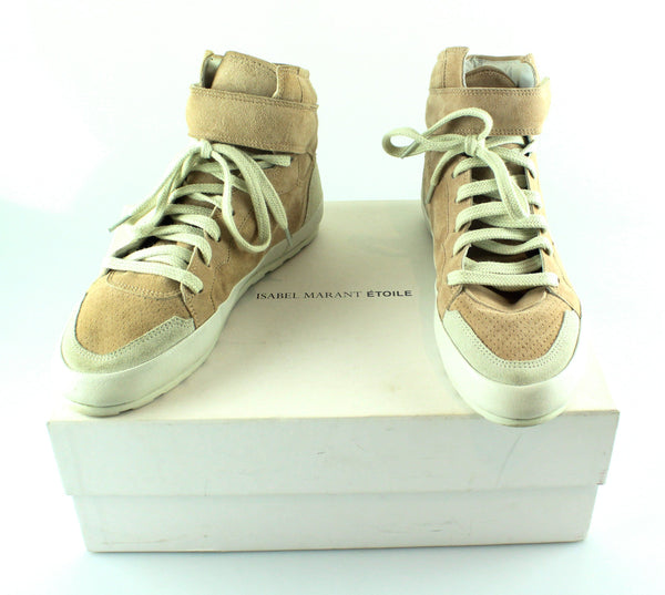 Isabel Marant Hip Hop Bessy High Top Sneakers Antique Pink EUR 38 UK 5