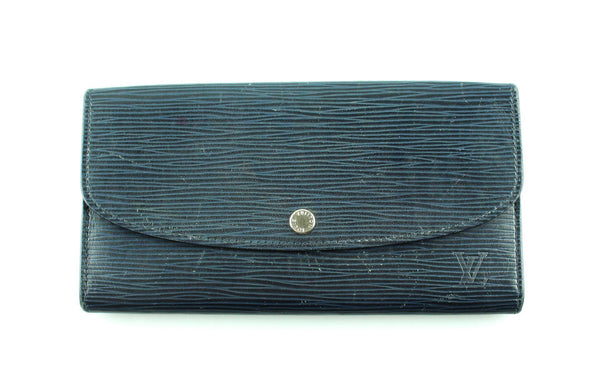 Louis Vuitton Indigo Epi Leather Emilie Wallet CA2174