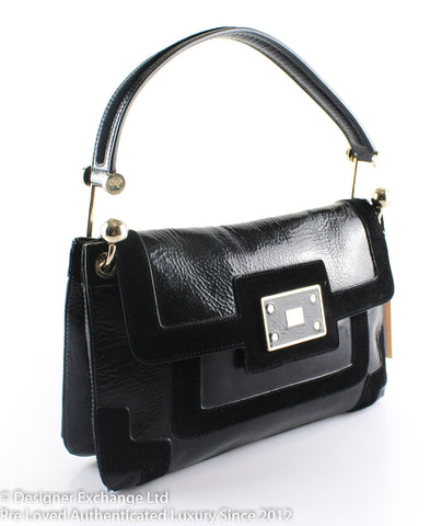 Anya Hindmarch Black Panelled Lautner Shoulder Bag