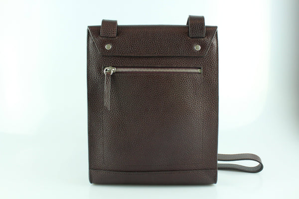 Mulberry Chiltern Small Messenger Oxblood Grain Veg Tanned