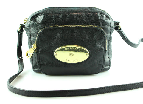 Mulberry Gracie Black Leather With Gold Hardware