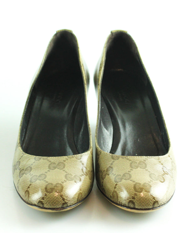 Gucci Wedge Court Shoe Supreme GG EUR 37 UK 4