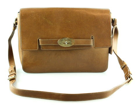 Mulberry Oak Bayswater Satchel GH Large Model