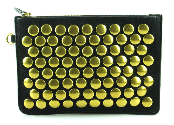 Jerome Dreyfuss Black Suede Studded Pouch