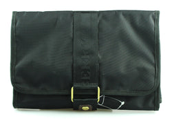 Mulberry Black Canvas Velcro Toiletry Bag