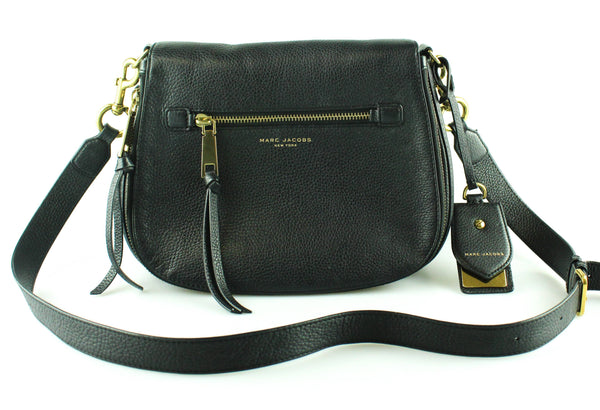Marc Jacobs Large Black Recruit Saddle Bag GH