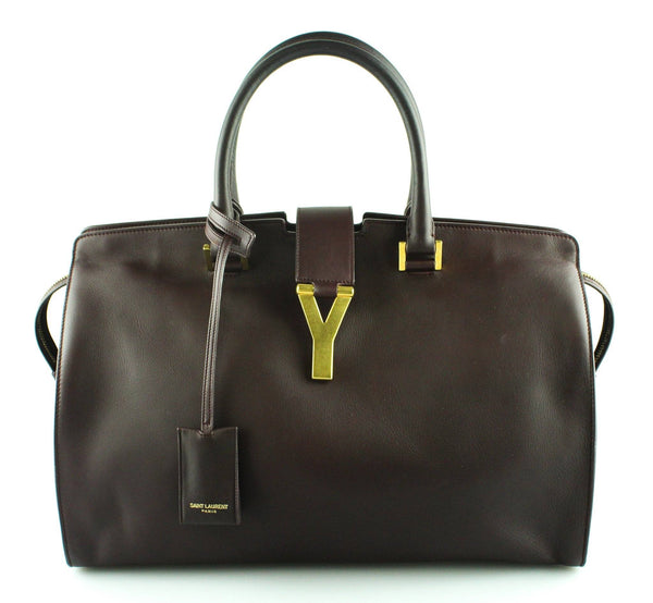 Saint Laurent Oxblood Leather Large Cabas Tote GH