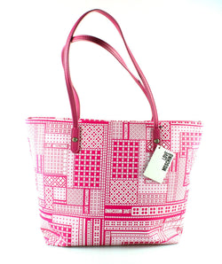 Love Moschino Pink /White Tiled Shopper Zipped