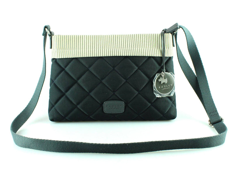 Radley Navy Quilted Canvas Crossbody