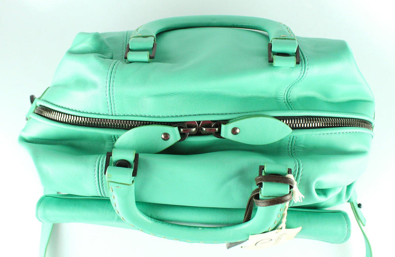 Pauric Sweeney Turqouise Satchel With Long Strap