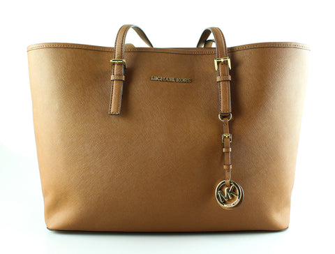 Michael Kors Tan Saffiano Large Jet Set Tote GH