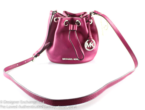 Michael Kors Small Pink Jules Drawstring Bag