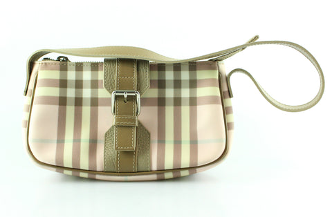 Burberry Heritage Pink Check Buckle Small Shoulder Bag