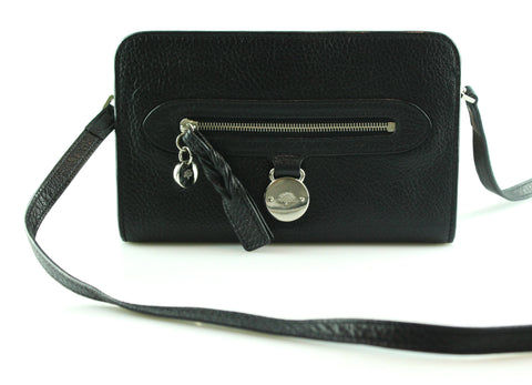 Mulberry Somerset Black Wallet On Strap