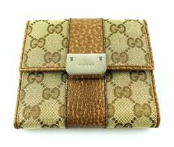 Gucci GG Flap Compact Button Down Wallet