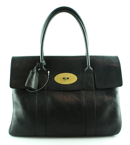 Mulberry NVT Black Bayswater With Brass Hardware