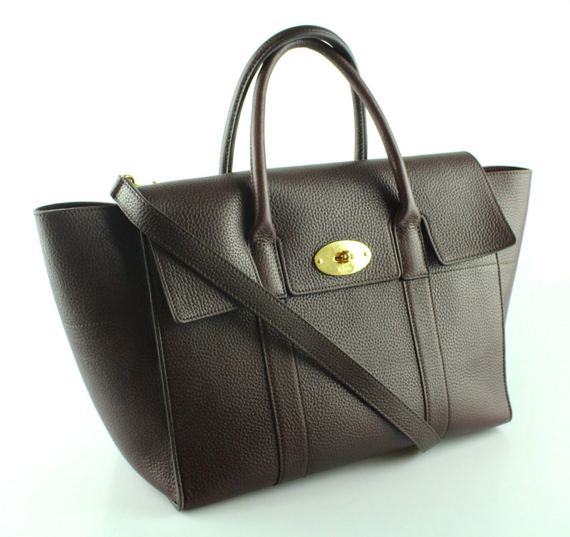 Mulberry Bayswater With Strap Small Classic Grain Leather Oxblood