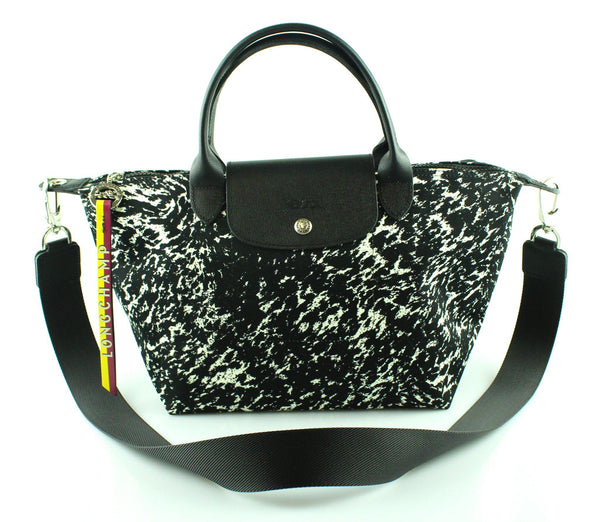 Longchamp Ltd Edition Monochrome Splash Effect Le Pliage S