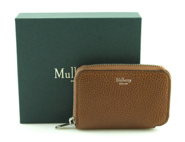 Mulberry Slim Zipped Oak Card Case
