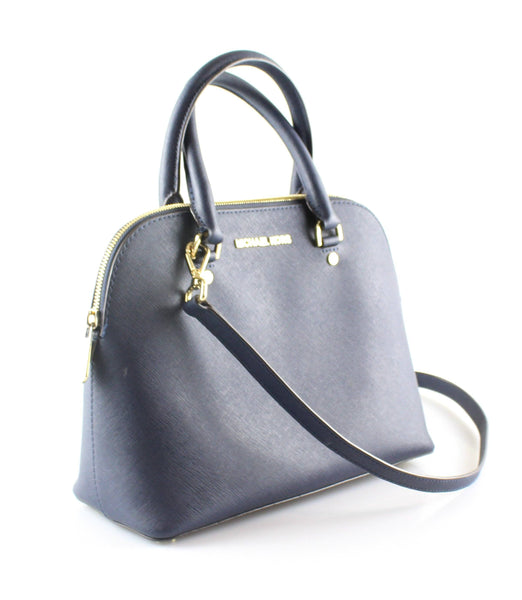 Michael Kors Andy Medium Dome Saffiano Tote Navy