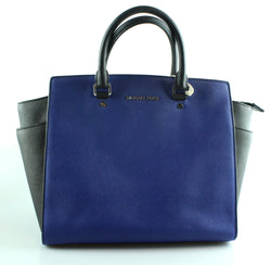 Michael Kors Large Blue/Black Selma SH