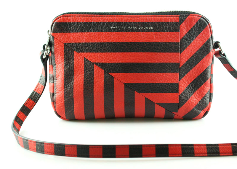 Marc Jacobs Red/Black Striped Cross Body