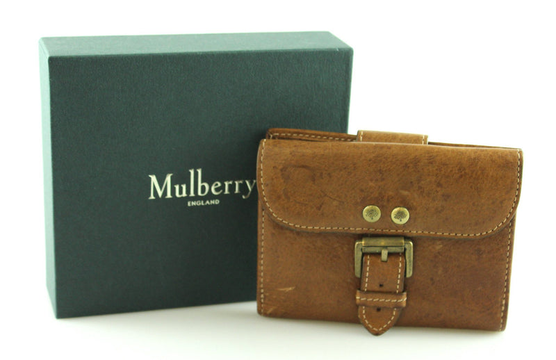 Mulberry Roxanne Wallet Compact Small Oak