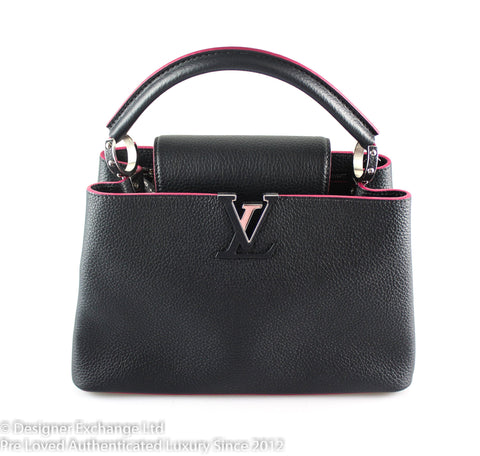 Louis Vuitton Fuschia Cobalt Taurillon Capucines PM SP1177